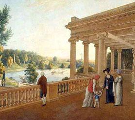 Неизвестный художник, «Павловск, «Павильон Трех граций», 1810