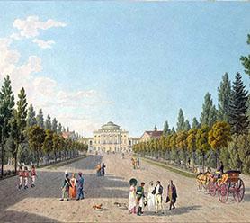 Художник Г. Лори, «Павловский дворец», 1805