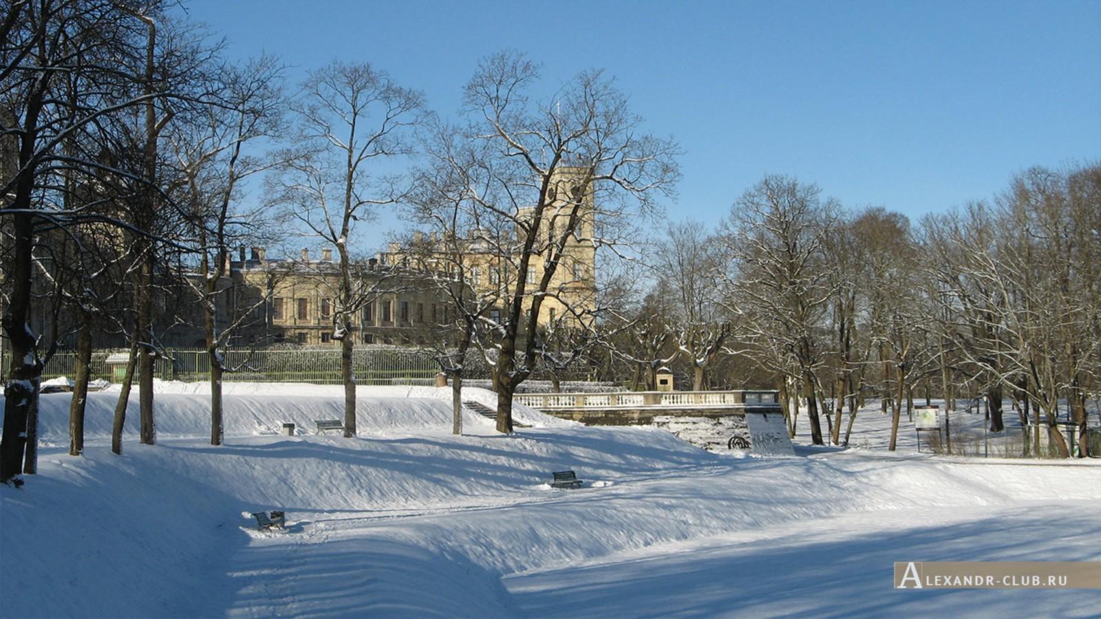 Вид на дворец со стороны Голландского сада, Гатчинский парк