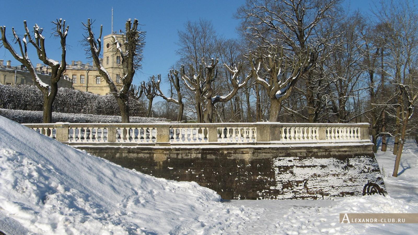 Вид на террасу Собственного садика, Гатчинский парк