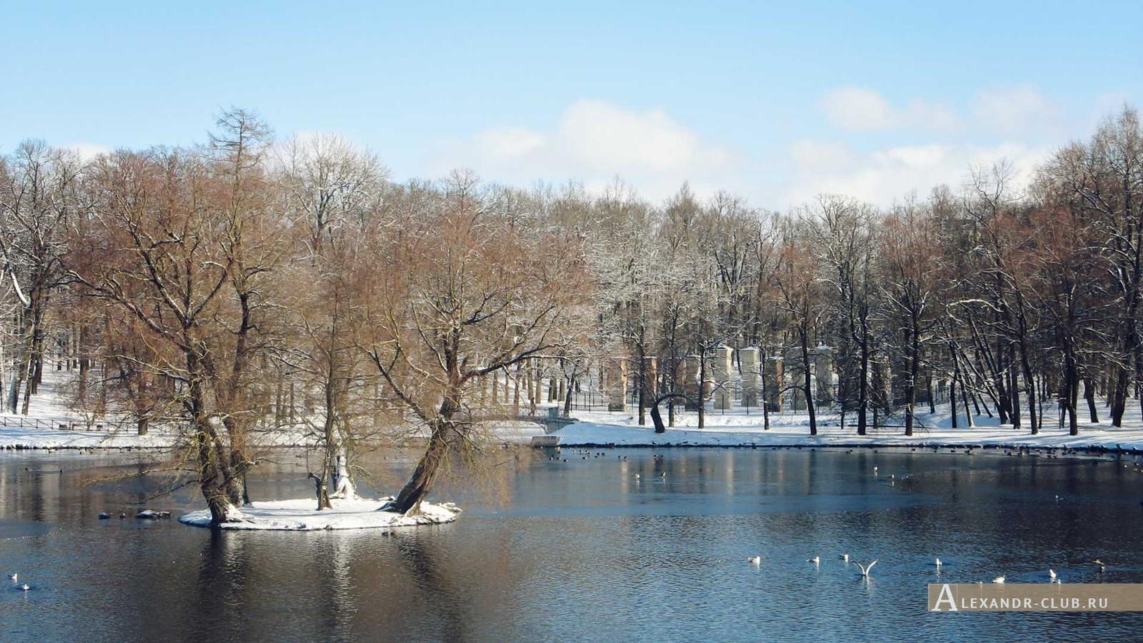 Белое озеро и Адмиралтейство с Карпина моста, Гатчинский парк