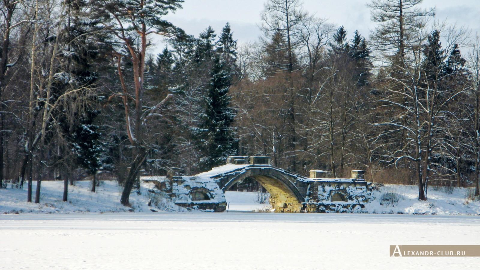 Горбатый мост, Гатчинский парк