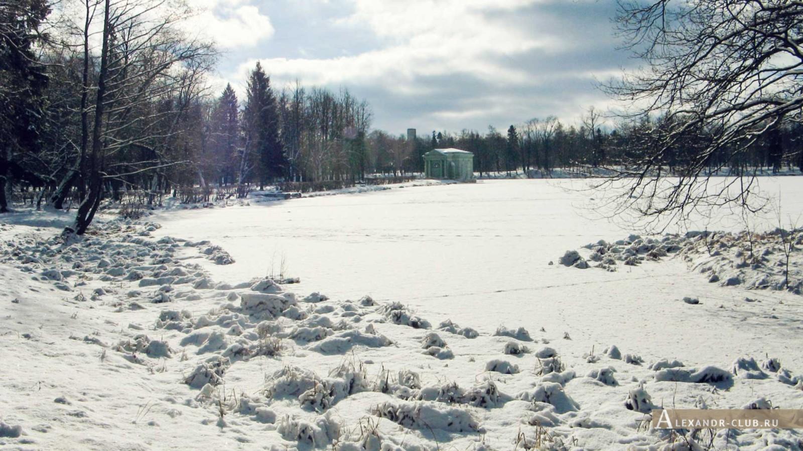 Белое озеро, павильон Венеры, Гатчинский парк