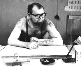 """Николай Ивановский у себя в кабинете на """"Ленфильме"""", 1970-е, фотограф Эл Кацев"""