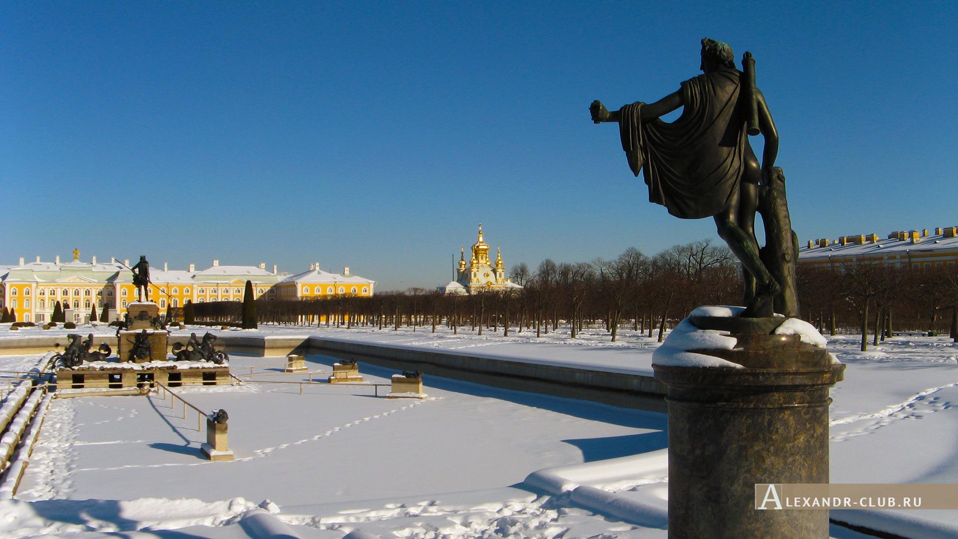 Петергоф, зима, Верхний сад – 1