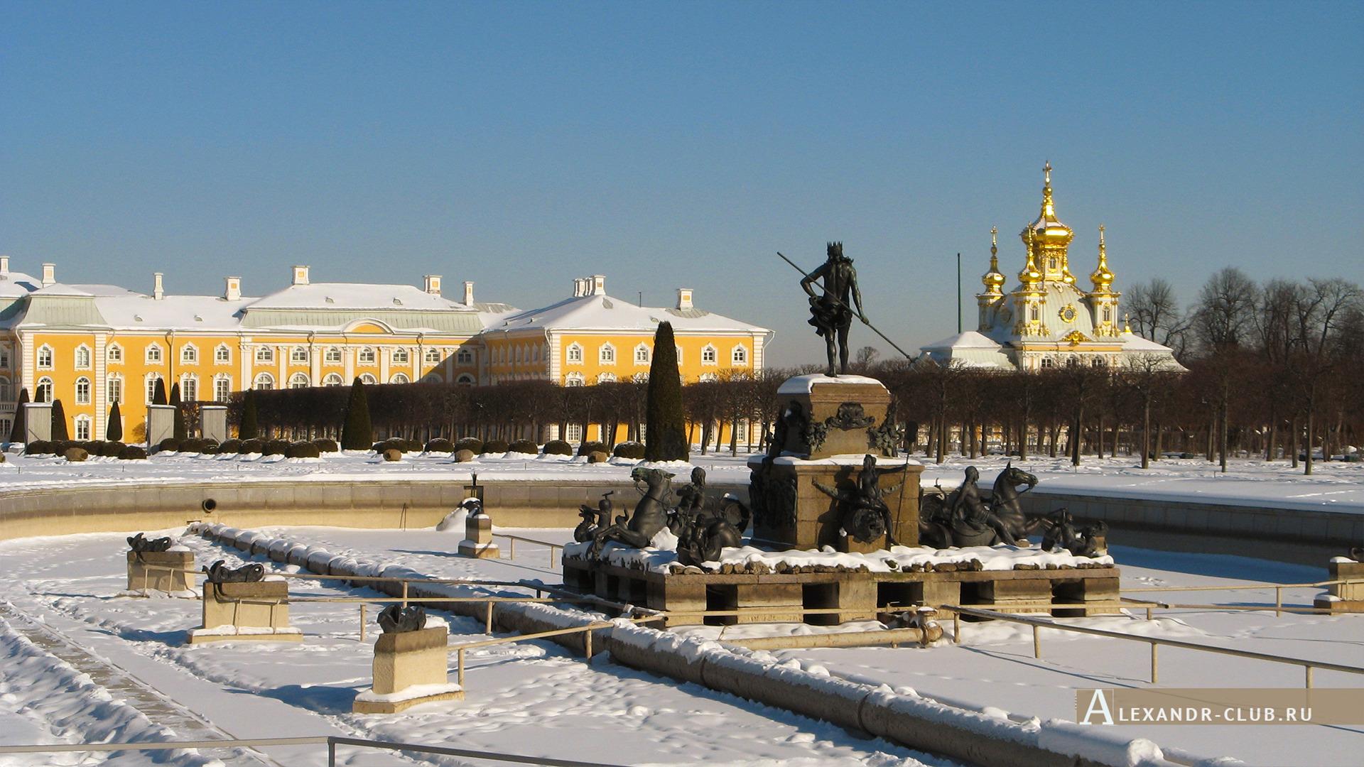 Петергоф, зима, Верхний сад – 2