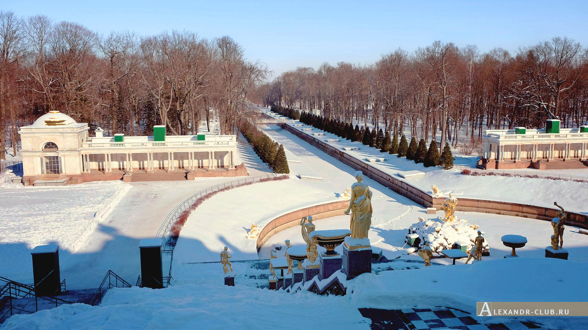 Петергоф, зима, Нижний парк, Большой каскад – 1