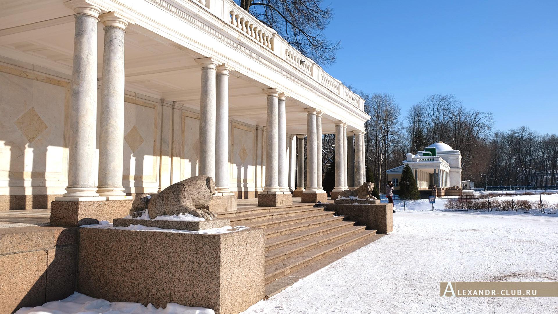 Петергоф, зима, Нижний парк, Воронихинские колоннады – 2