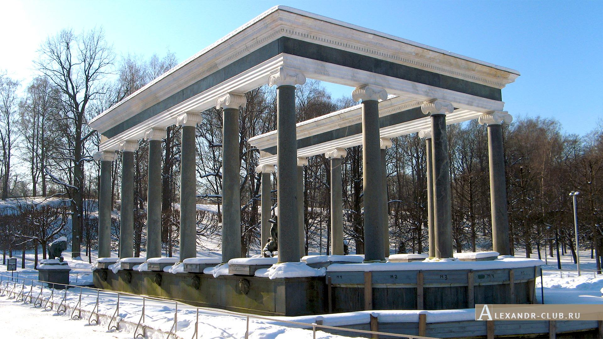 Петергоф, зима, Нижний парк, фонтан «Львиный каскад» – 3