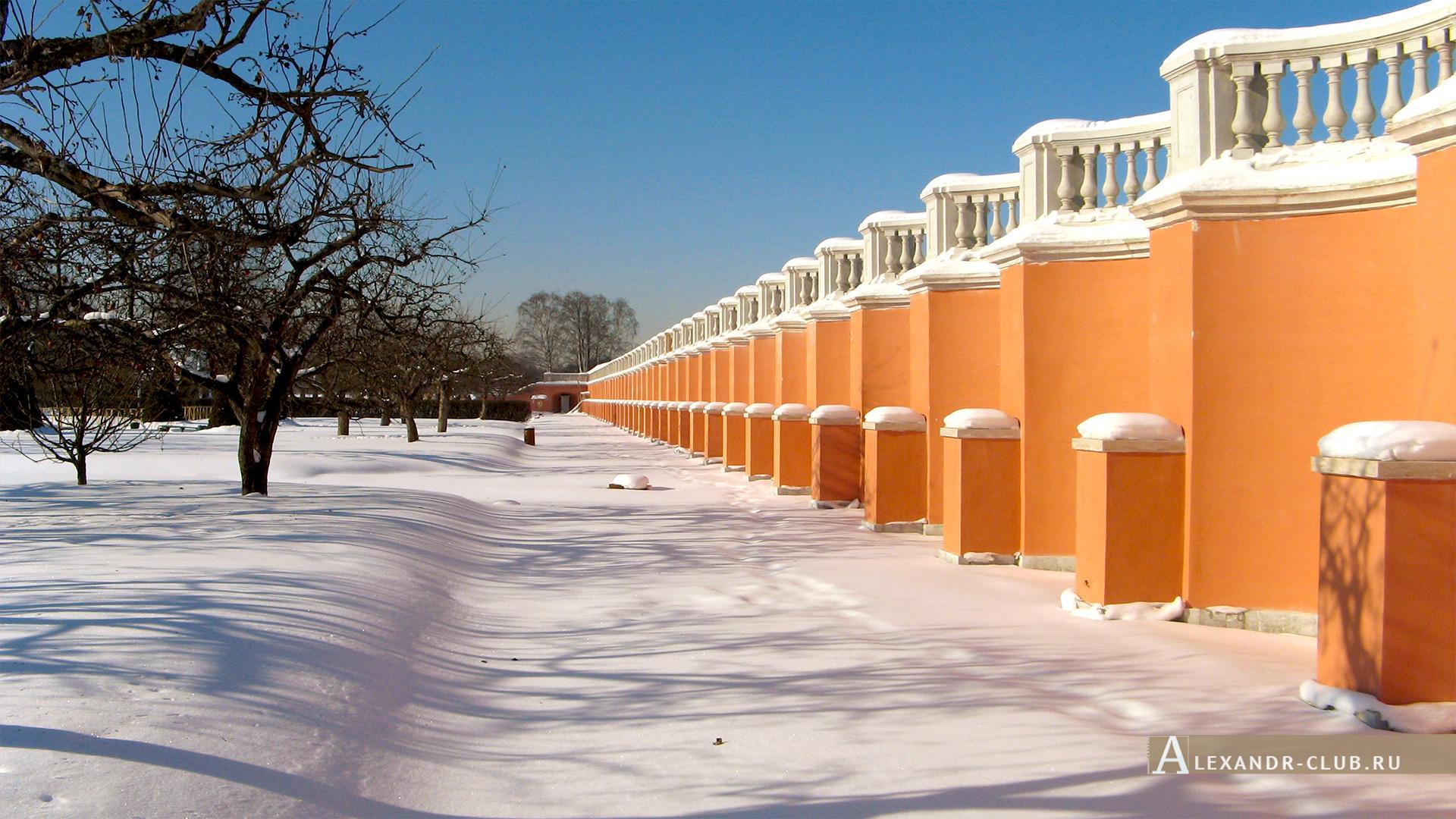 Петергоф, зима, Нижний парк, Марлинский вал – 1