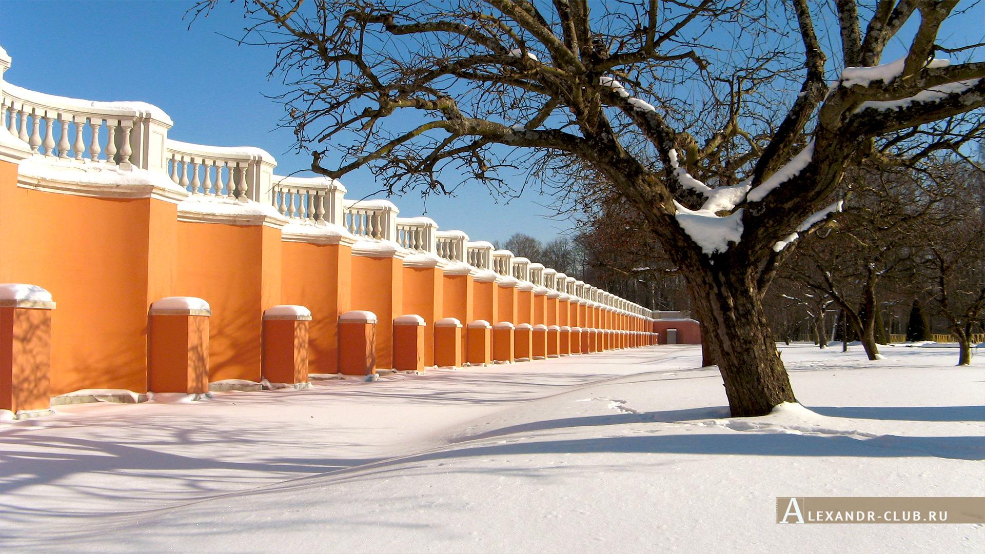 Петергоф, зима, Нижний парк, Марлинский вал – 2