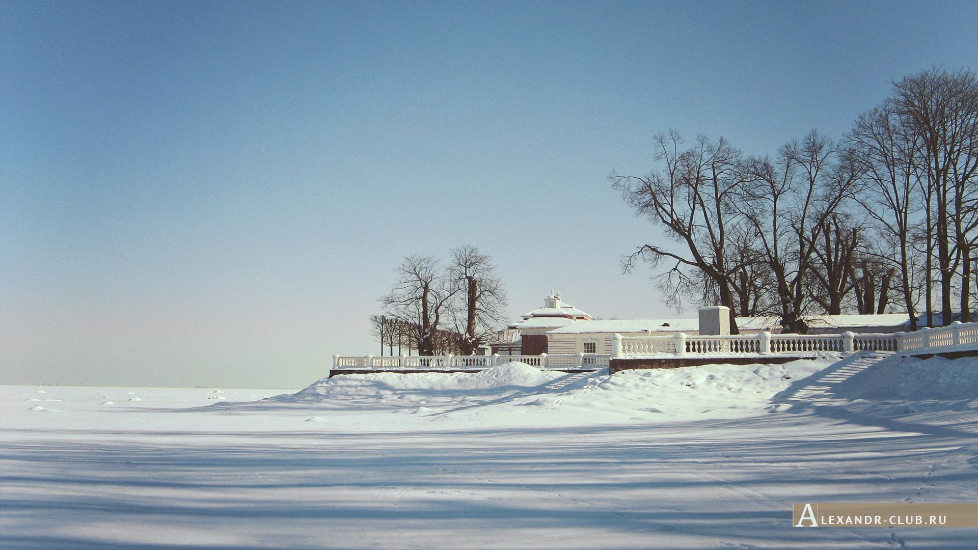 Петергоф, зима, Нижний парк, дворец «Монплезир» – 1