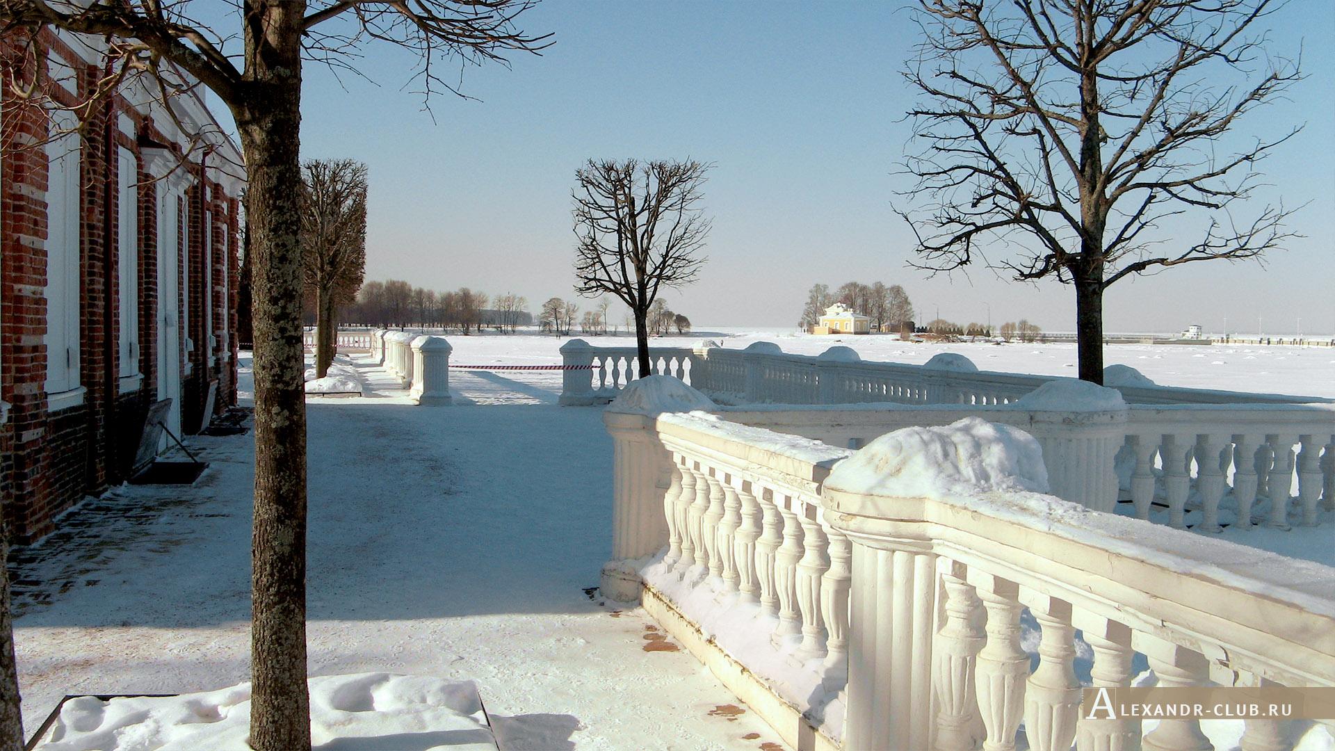 Петергоф, зима, Нижний парк, дворец «Монплезир» – 4