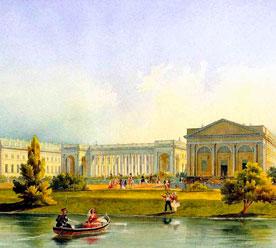 Горностаев А.М. «Александровский дворец в Царском селе», акварель, 1847 г.