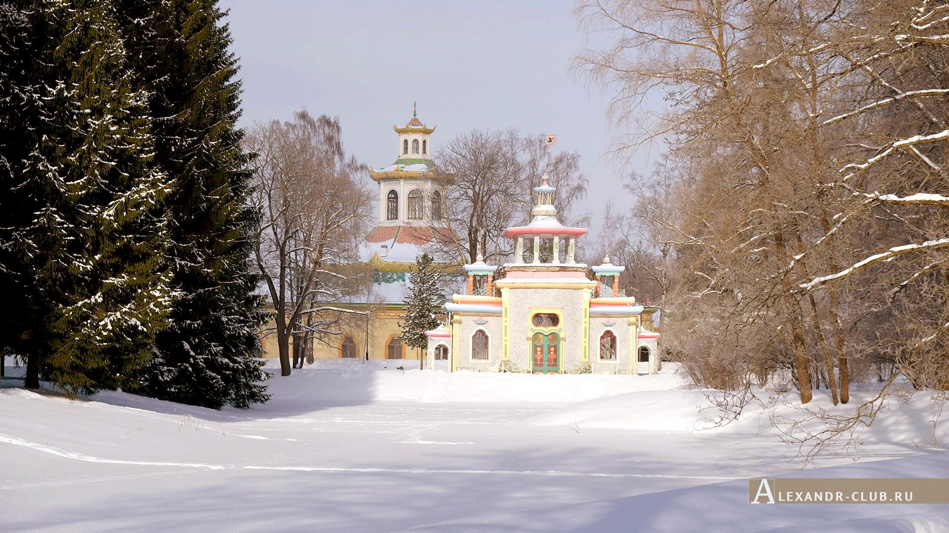 Царское Село, зима, Екатерининский парк, павильон «Скрипучая беседка» – 1