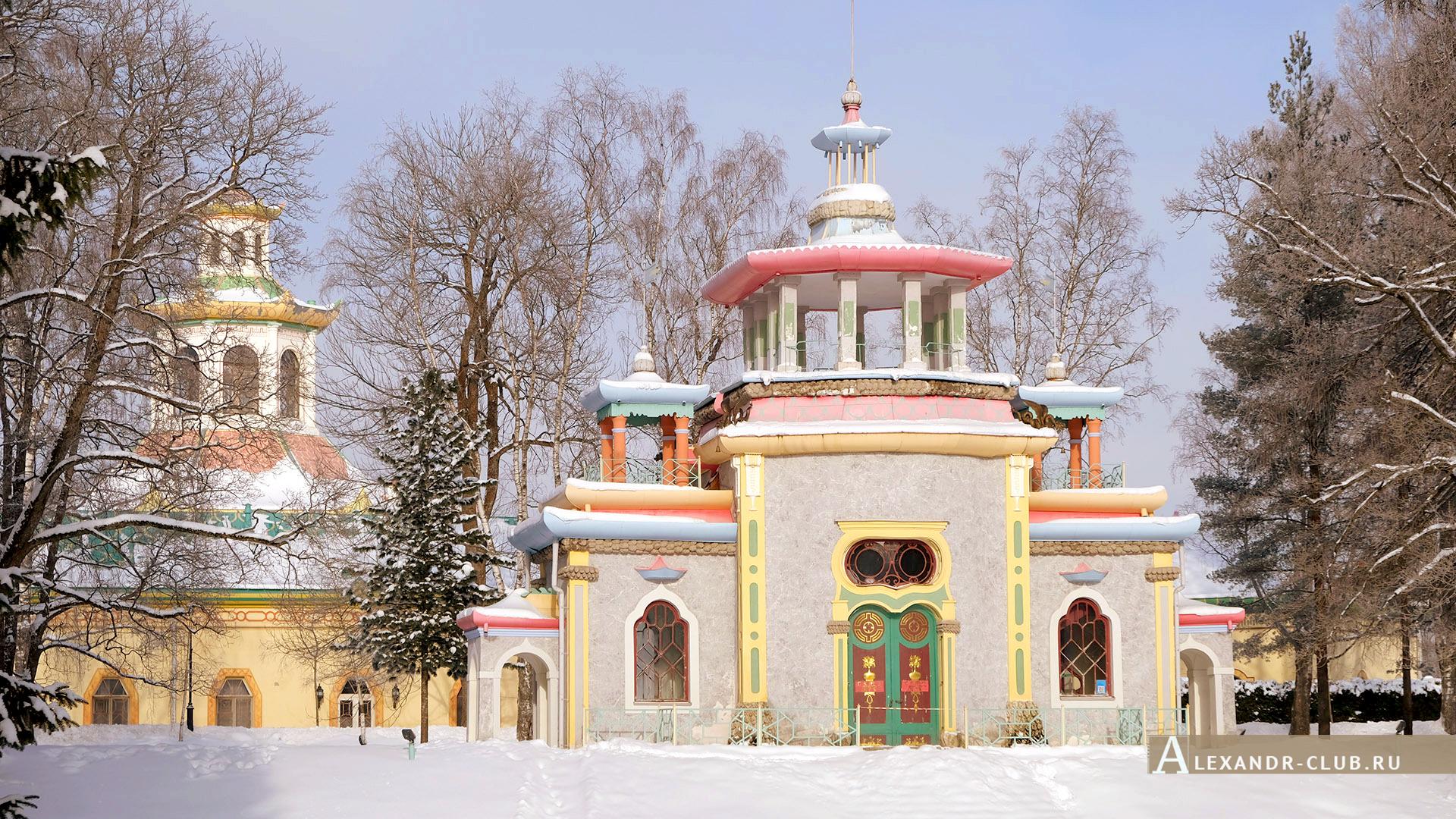 Царское Село, зима, Екатерининский парк, павильон «Скрипучая беседка» – 2