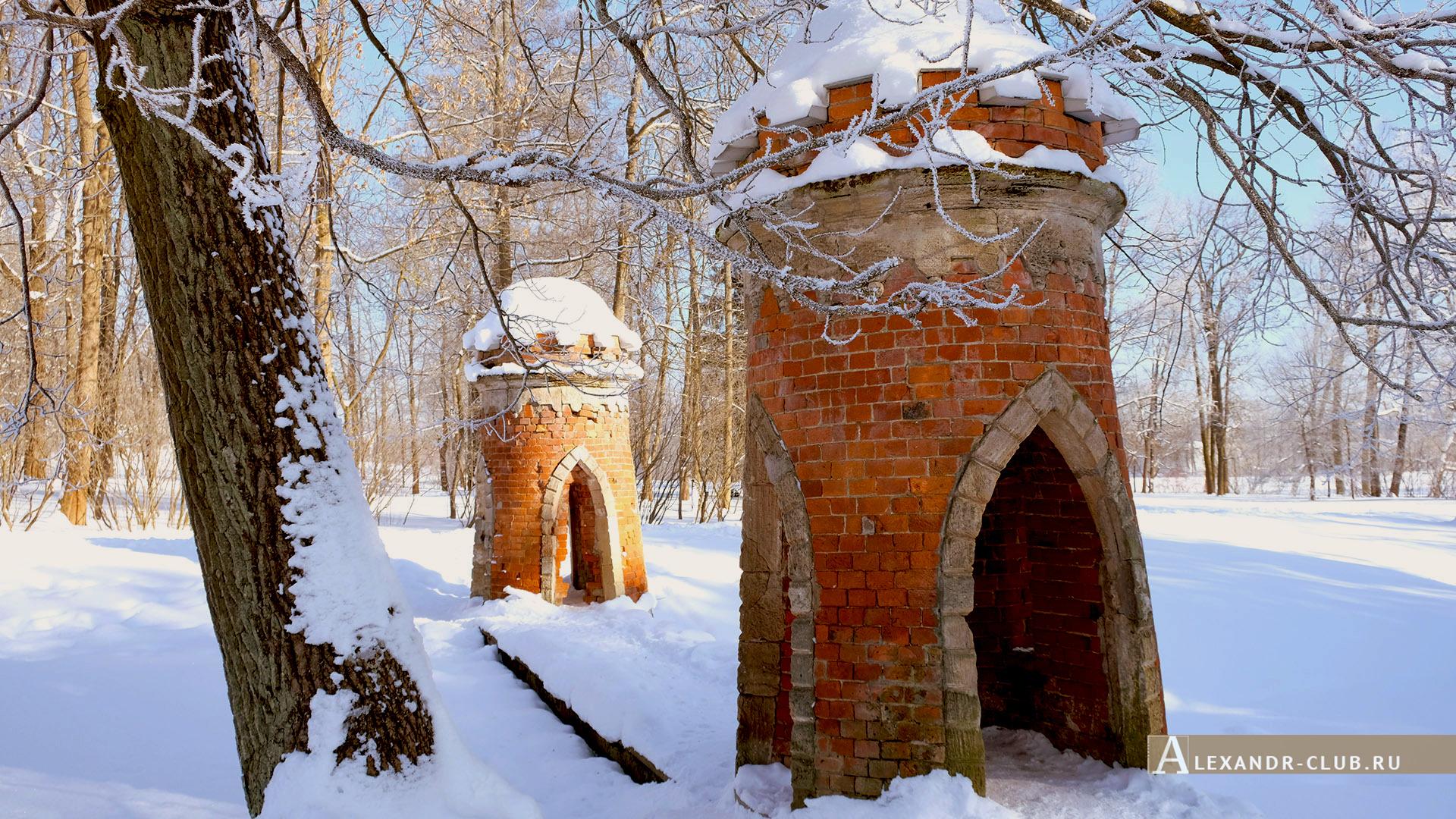 Царское Село, зима, Екатерининский парк, «Красный каскад» – 1