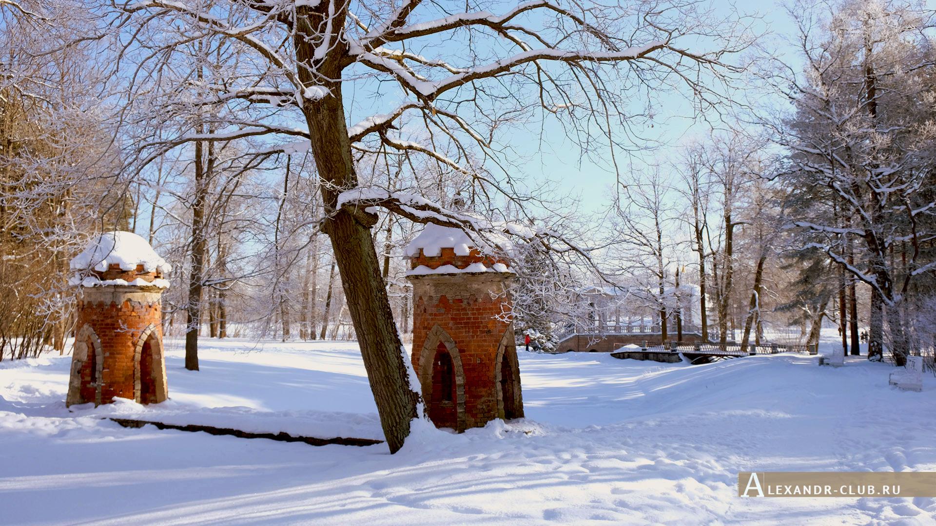 Царское Село, зима, Екатерининский парк, «Красный каскад» – 2