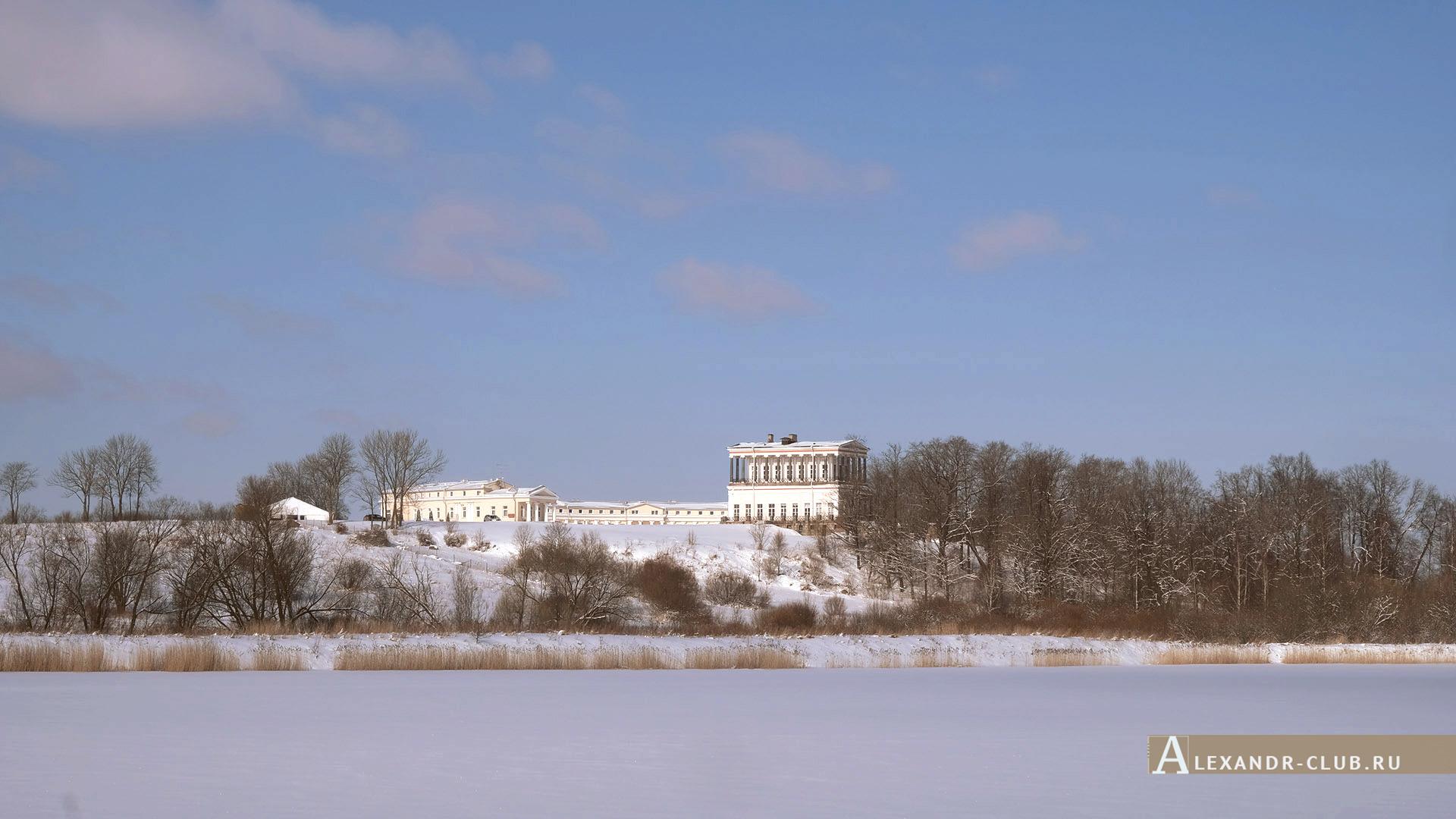 Петергоф, Луговой парк, зима, дворец Бельведер – 1