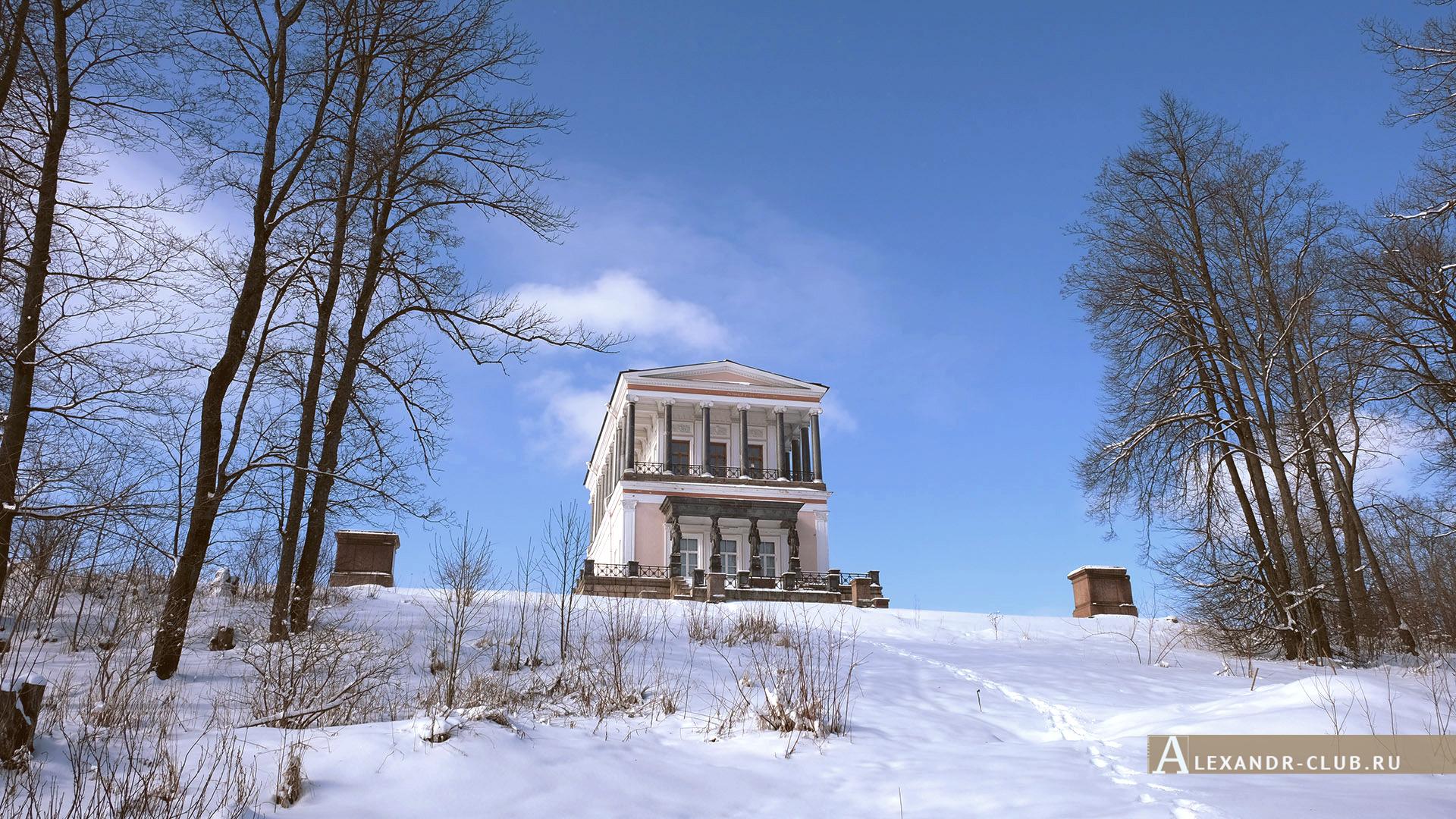 Петергоф, Луговой парк, зима, дворец Бельведер – 2
