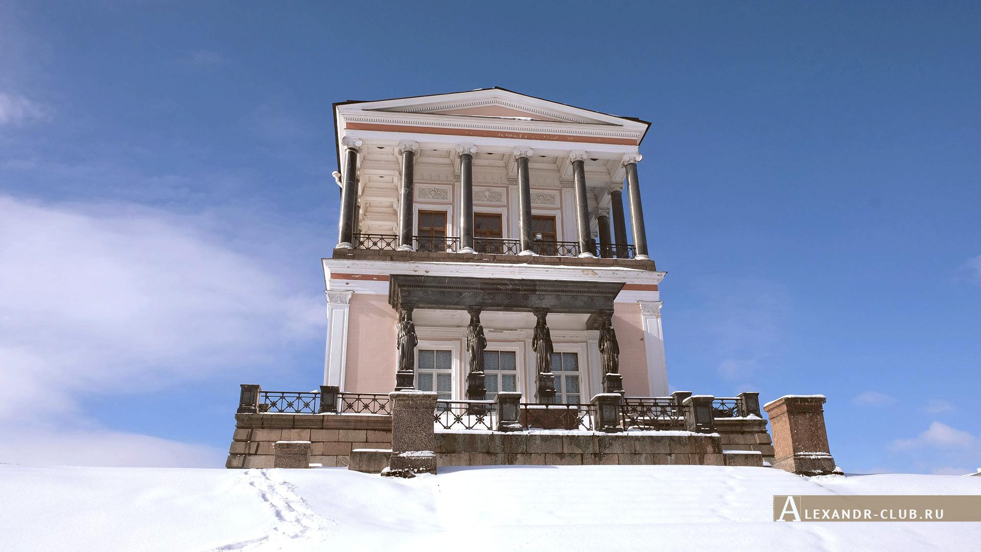 Петергоф, Луговой парк, зима, дворец Бельведер – 3