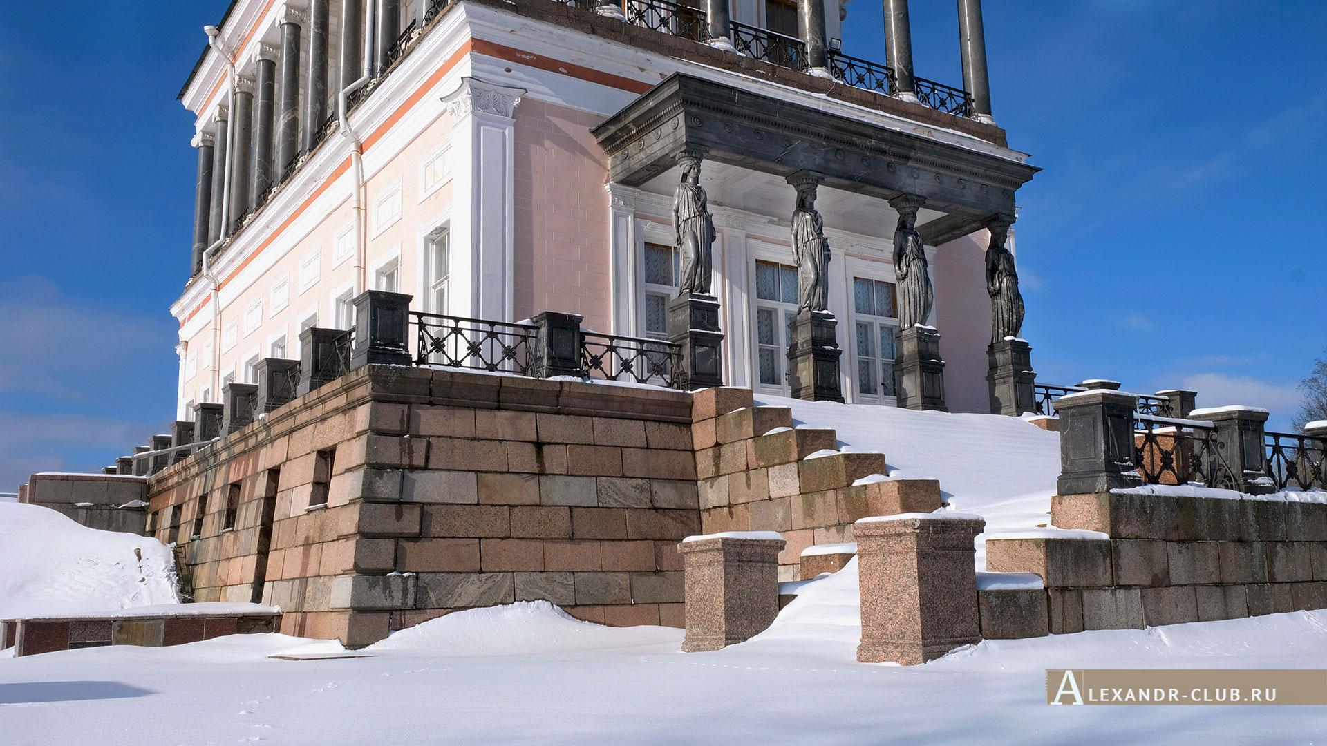 Петергоф, Луговой парк, зима, дворец Бельведер – 4