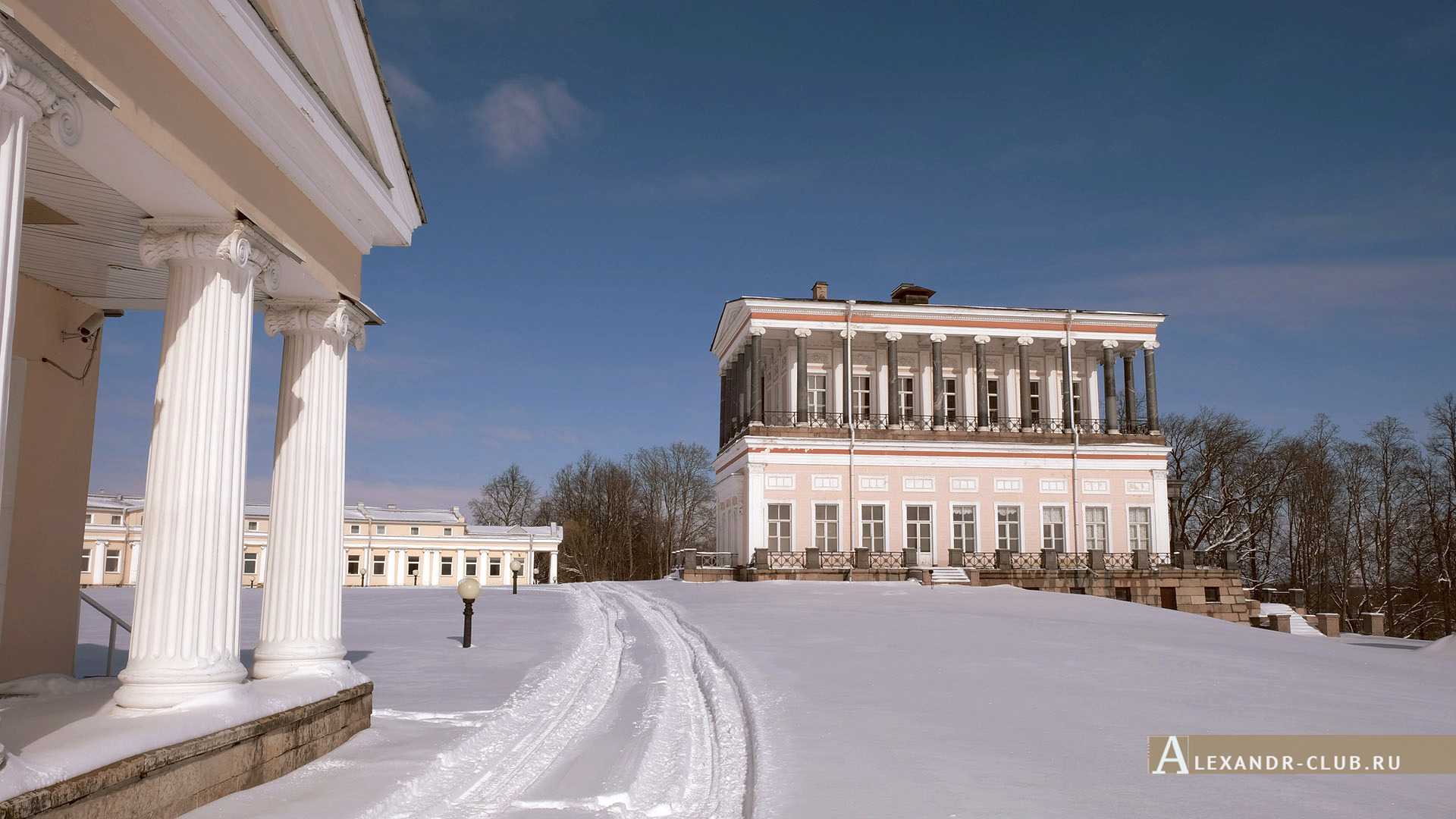 Петергоф, Луговой парк, зима, дворец Бельведер – 5