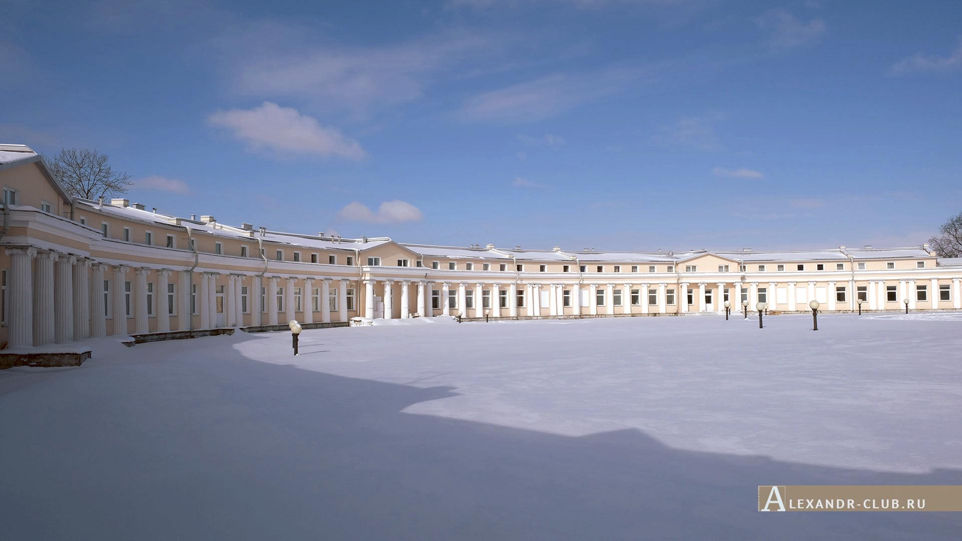 Петергоф, Луговой парк, зима, дворец Бельведер – 6