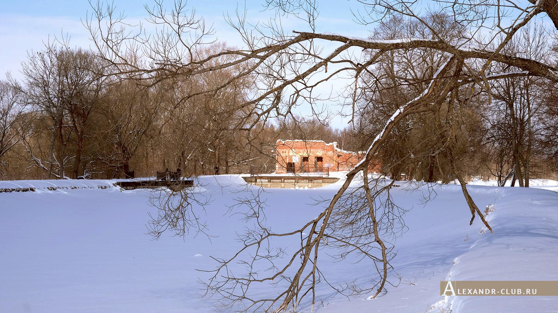 Петергоф, Луговой парк, зима, Розовый павильон – 1