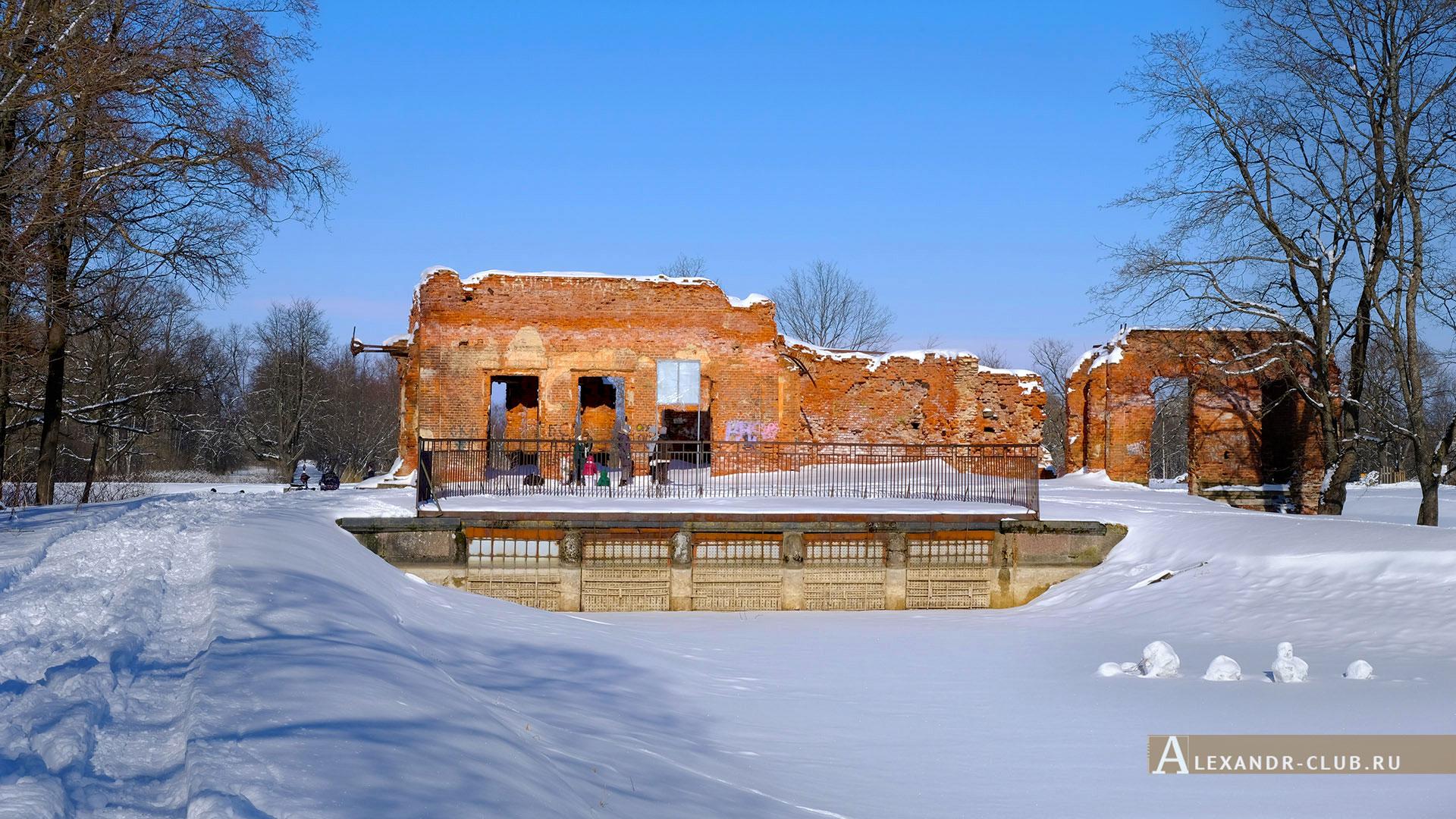 Петергоф, Луговой парк, зима, Розовый павильон – 2