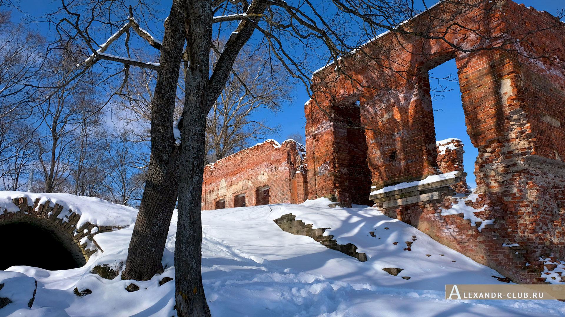 Петергоф, Луговой парк, зима, Розовый павильон – 3