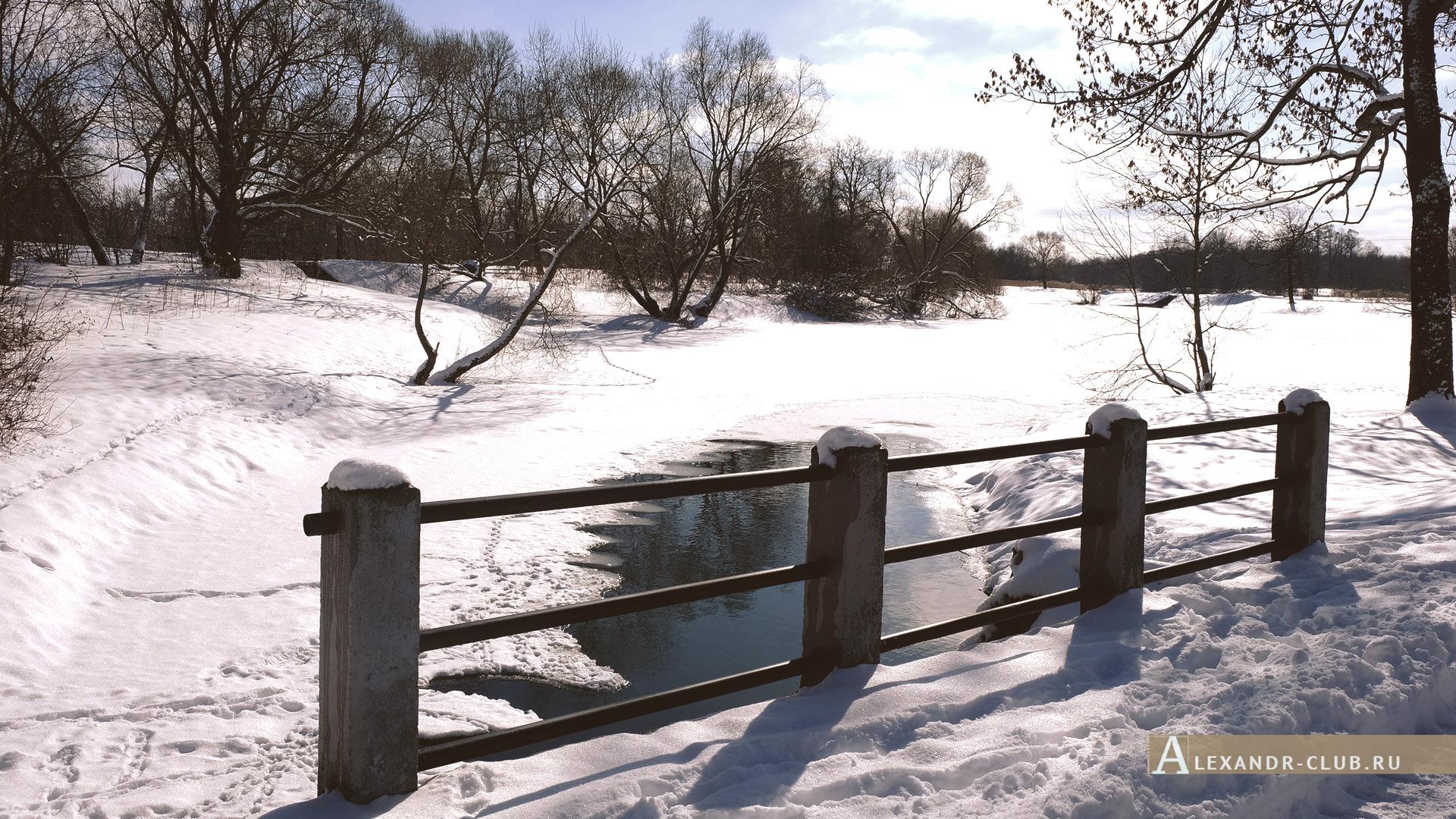 Петергоф, Луговой парк, зима, Орлинский пруд – 1