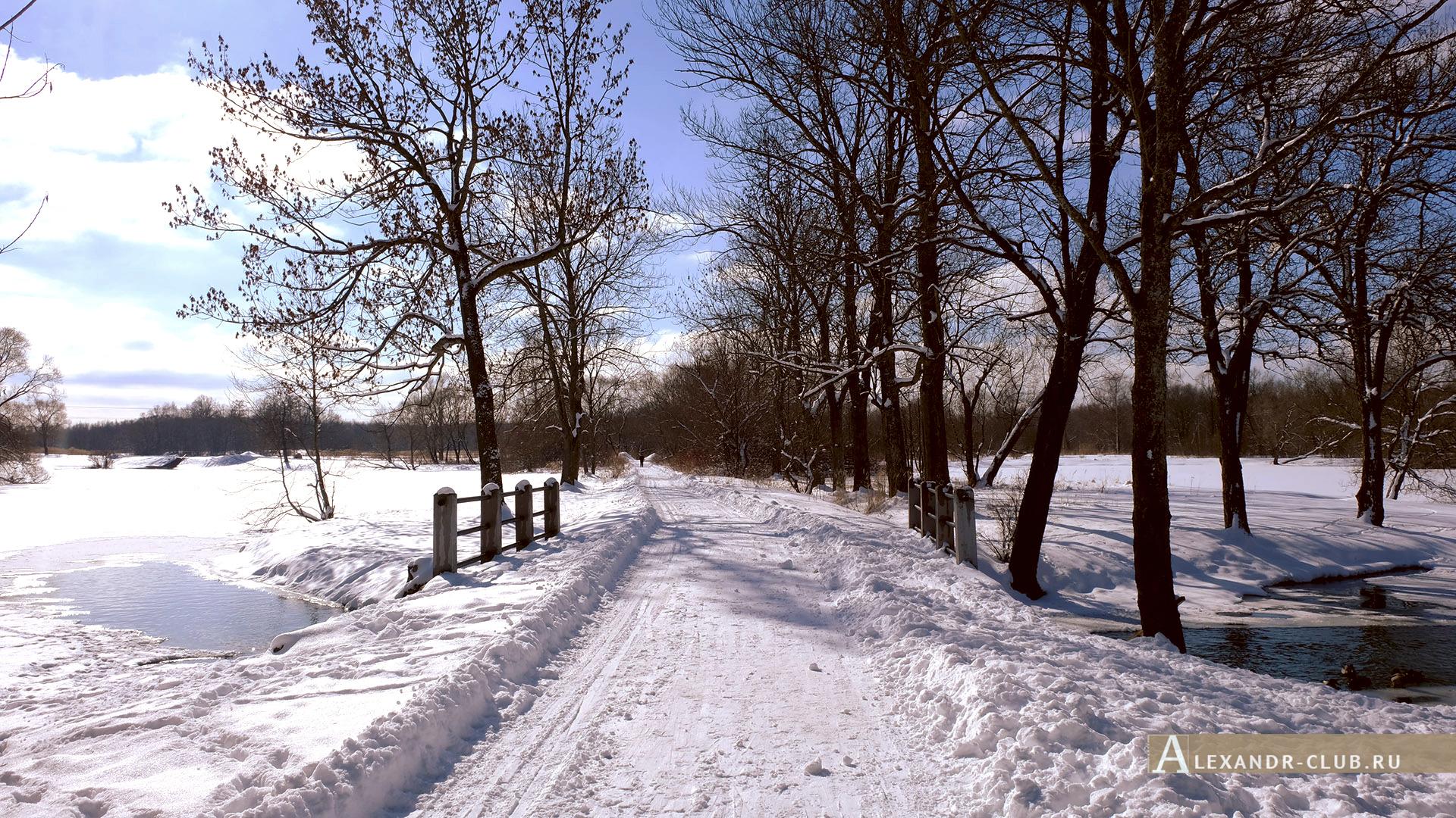 Петергоф, Луговой парк, зима, Орлинский пруд – 2