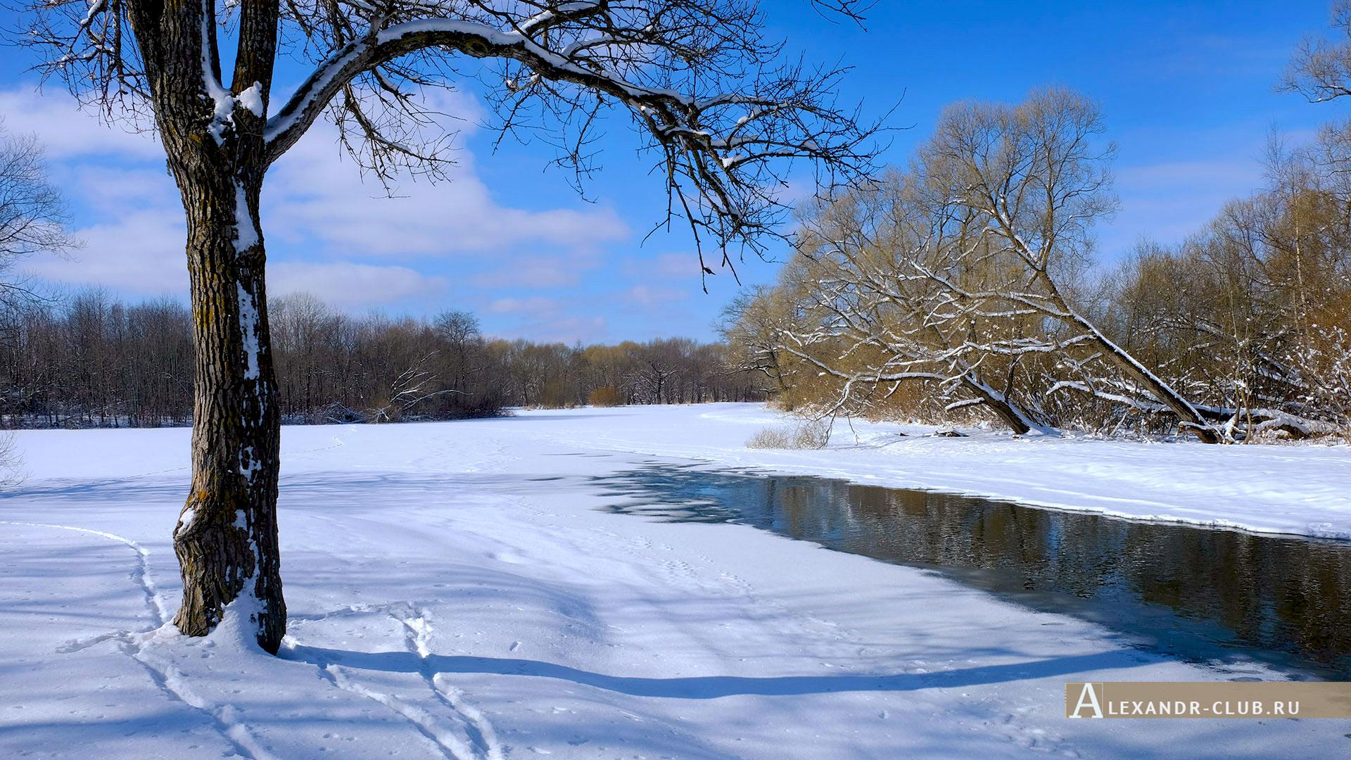 Петергоф, Луговой парк, зима, Орлинский пруд – 4