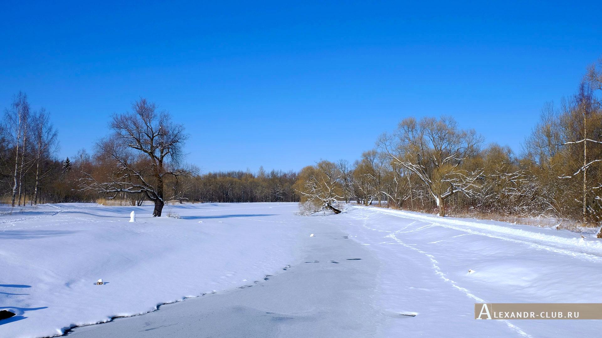 Петергоф, Луговой парк, зима, Никольский пруд – 1