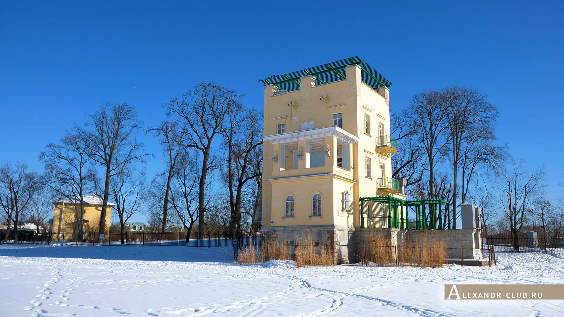 Петергоф, Колонистский парк, зима, Ольгин павильон