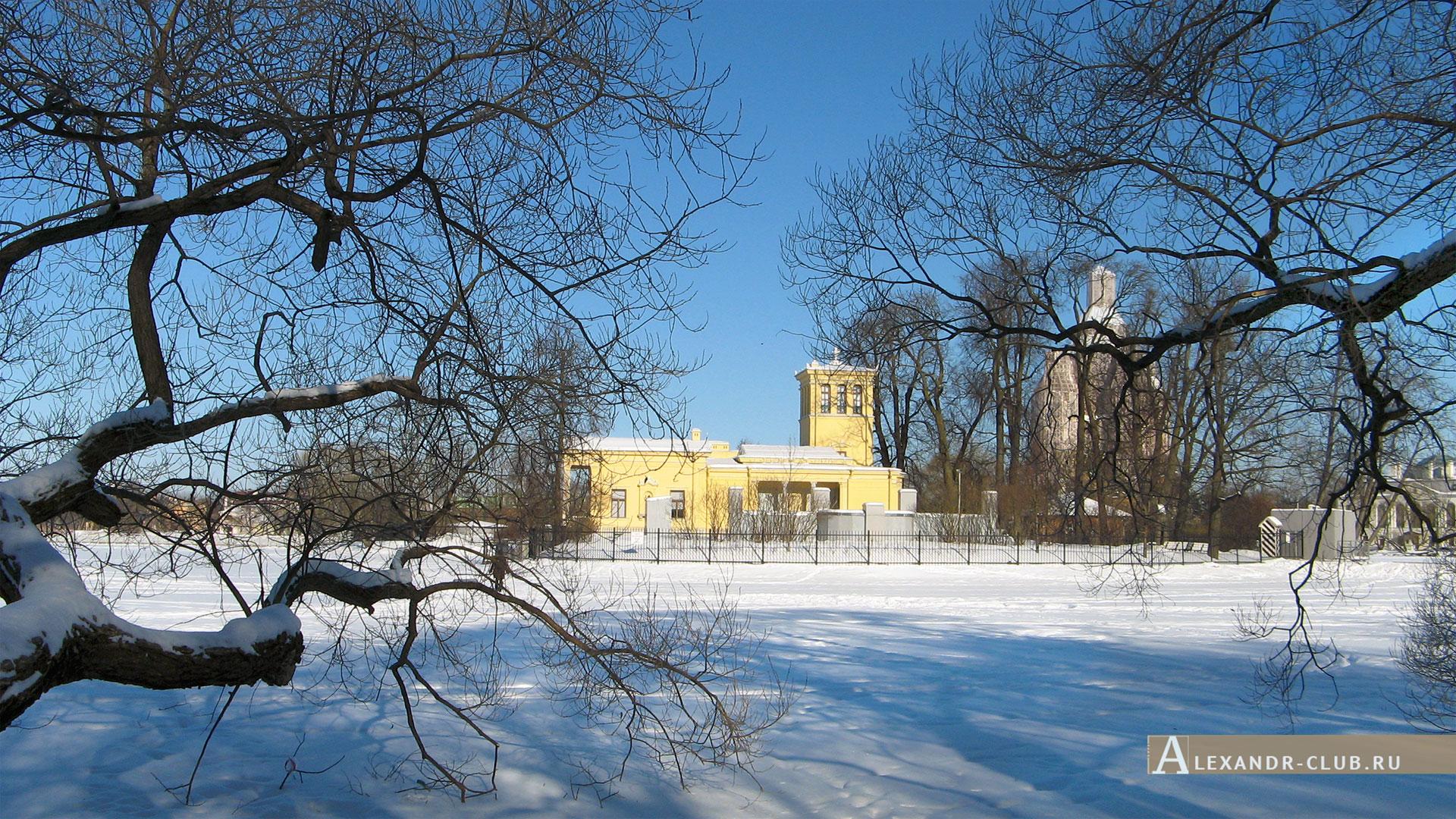 Петергоф, Колонистский парк, зима, Царицын павильон – 3