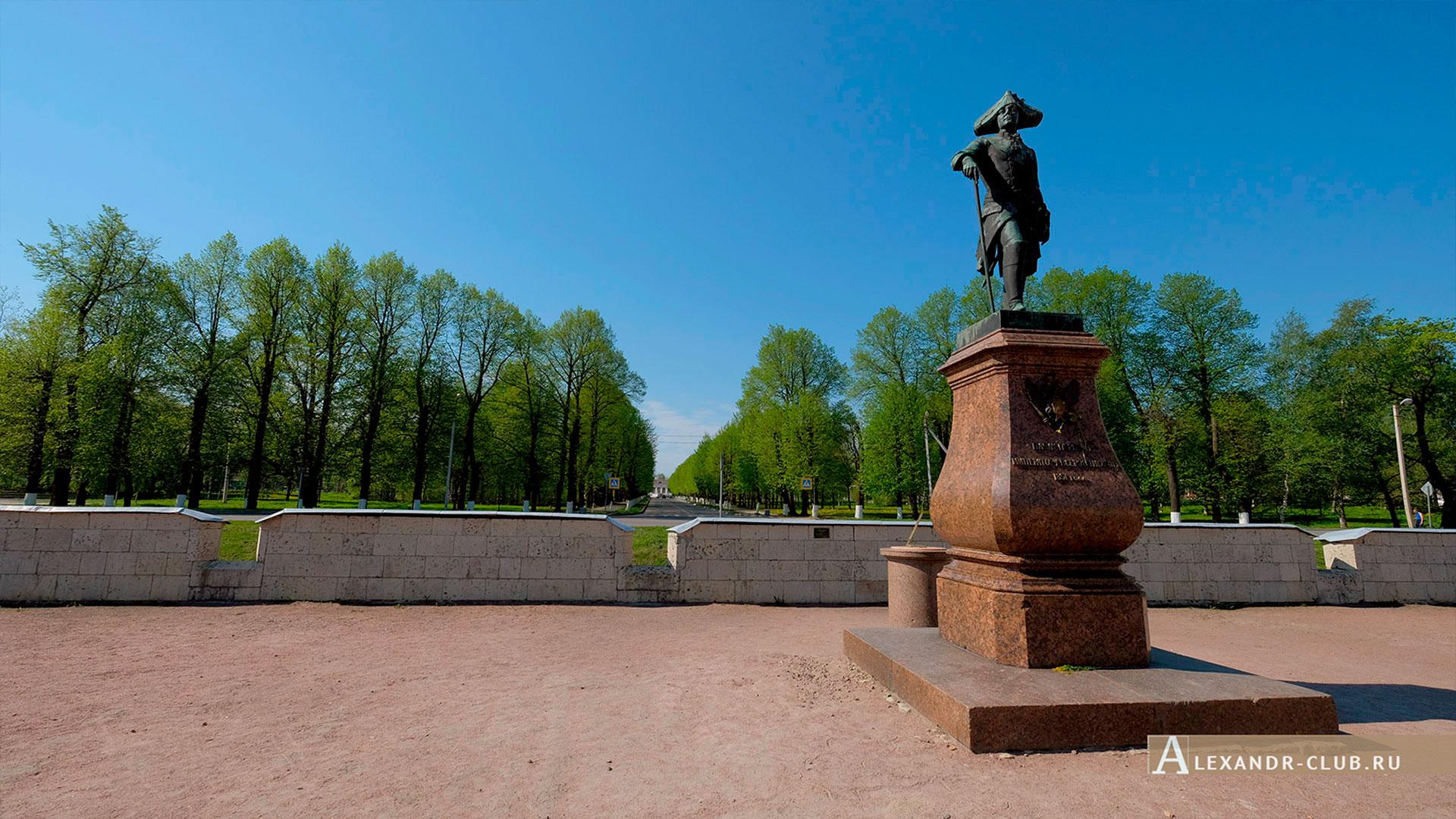 Гатчина, весна, Памятник Павлу I