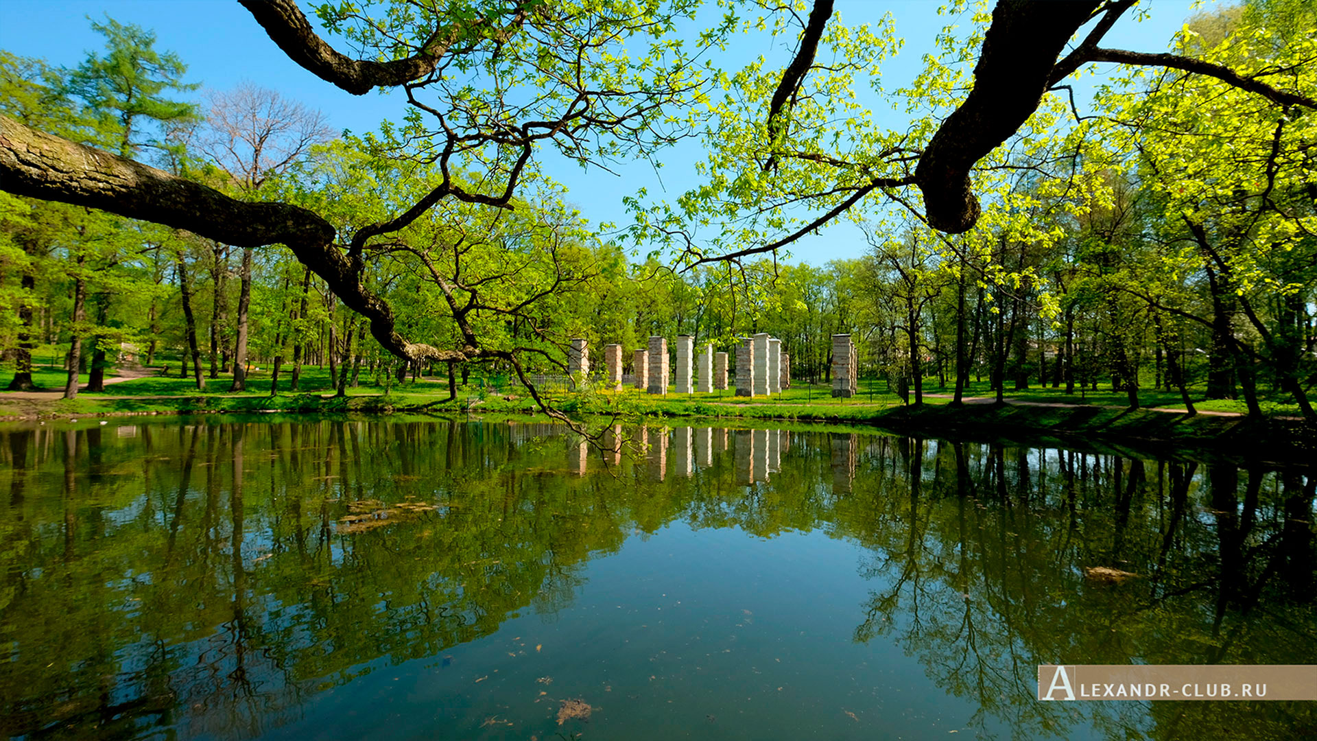 Гатчинский парк, весна, Адмиралтейство