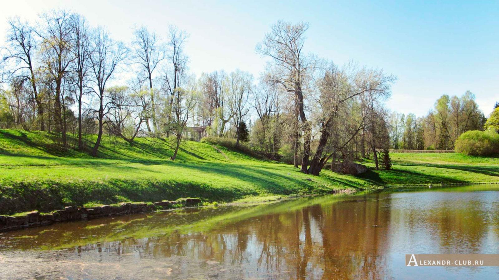 Павловский парк, весна, вид на р. Славянку и Колоннаду Аполлона – 1