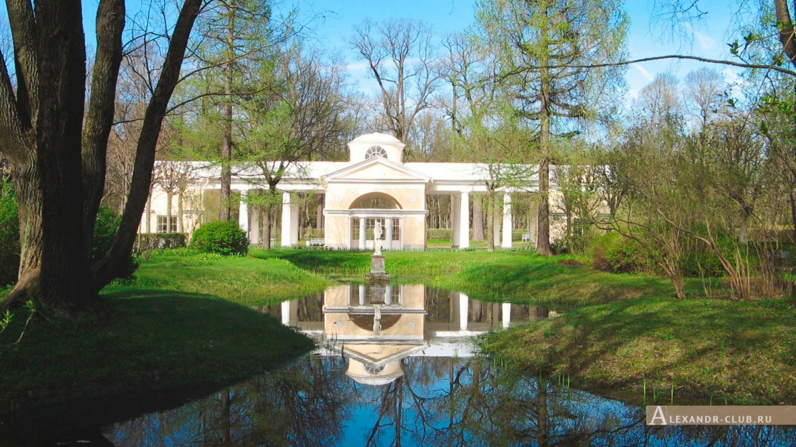 Павловский парк, весна, Вольер и статуя Венеры Италийской – 1