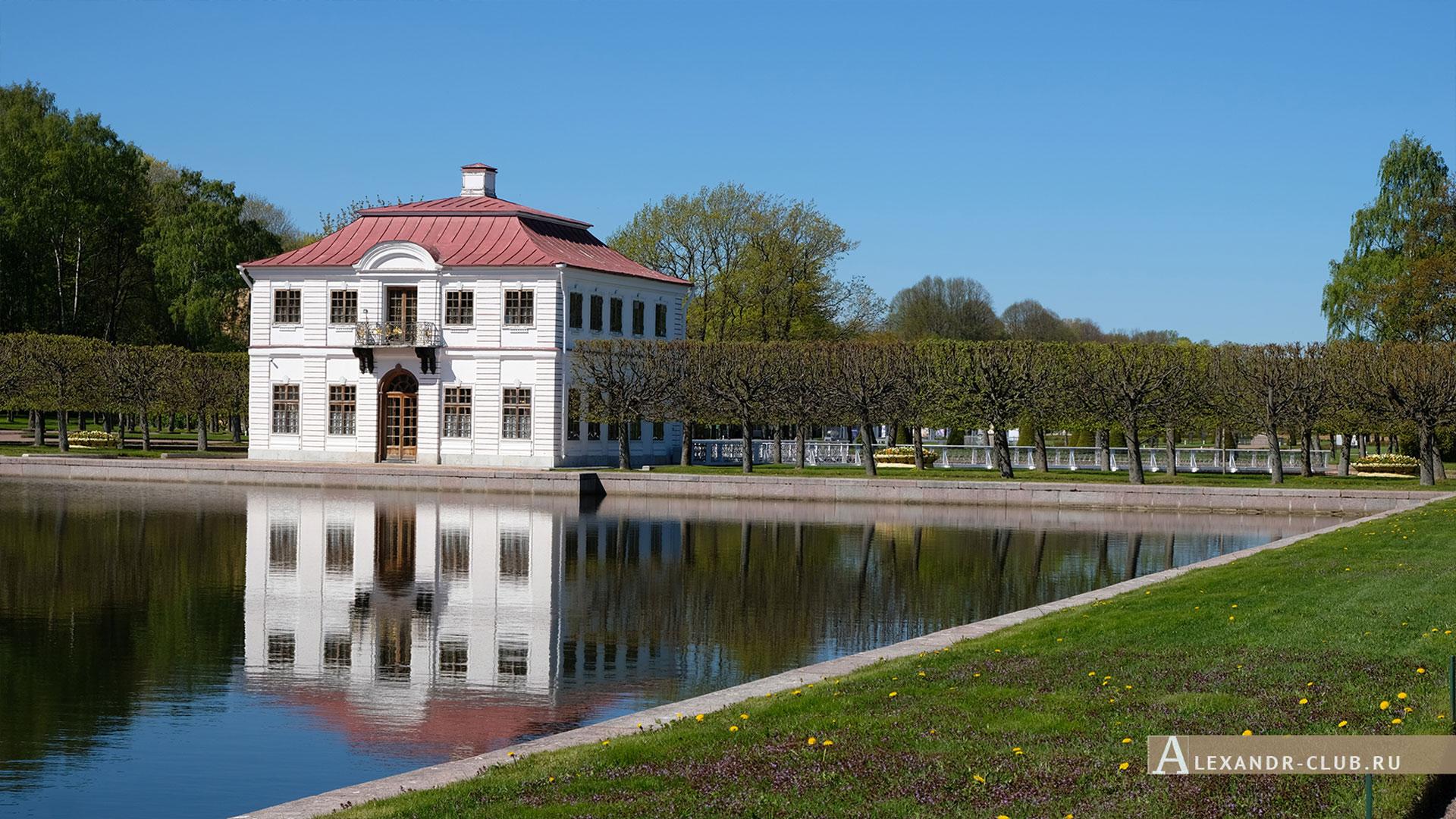 Петергоф, весна, Нижний парк, дворец Марли
