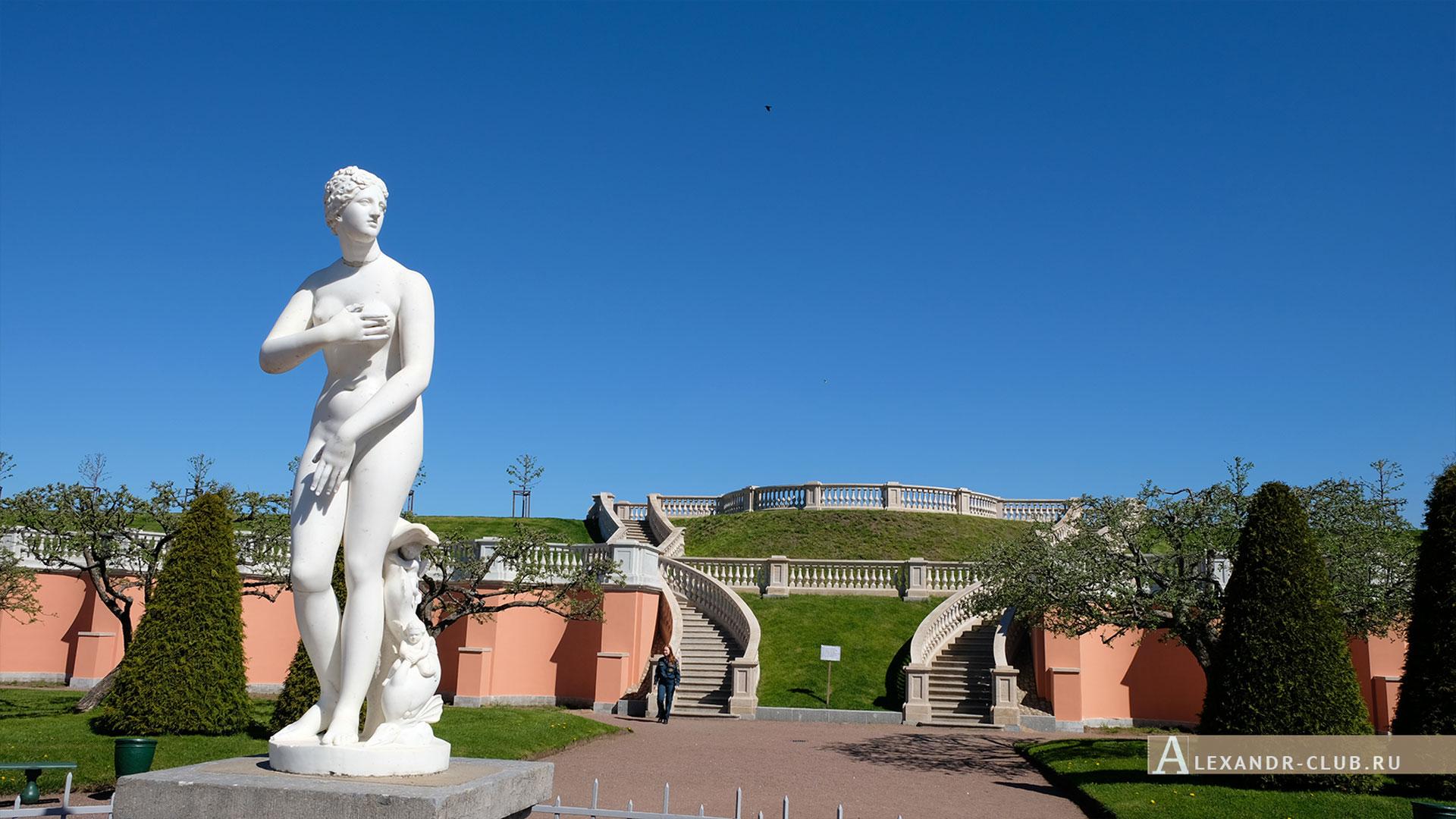 Петергоф, весна, Нижний парк, Марлинский вал, Венера