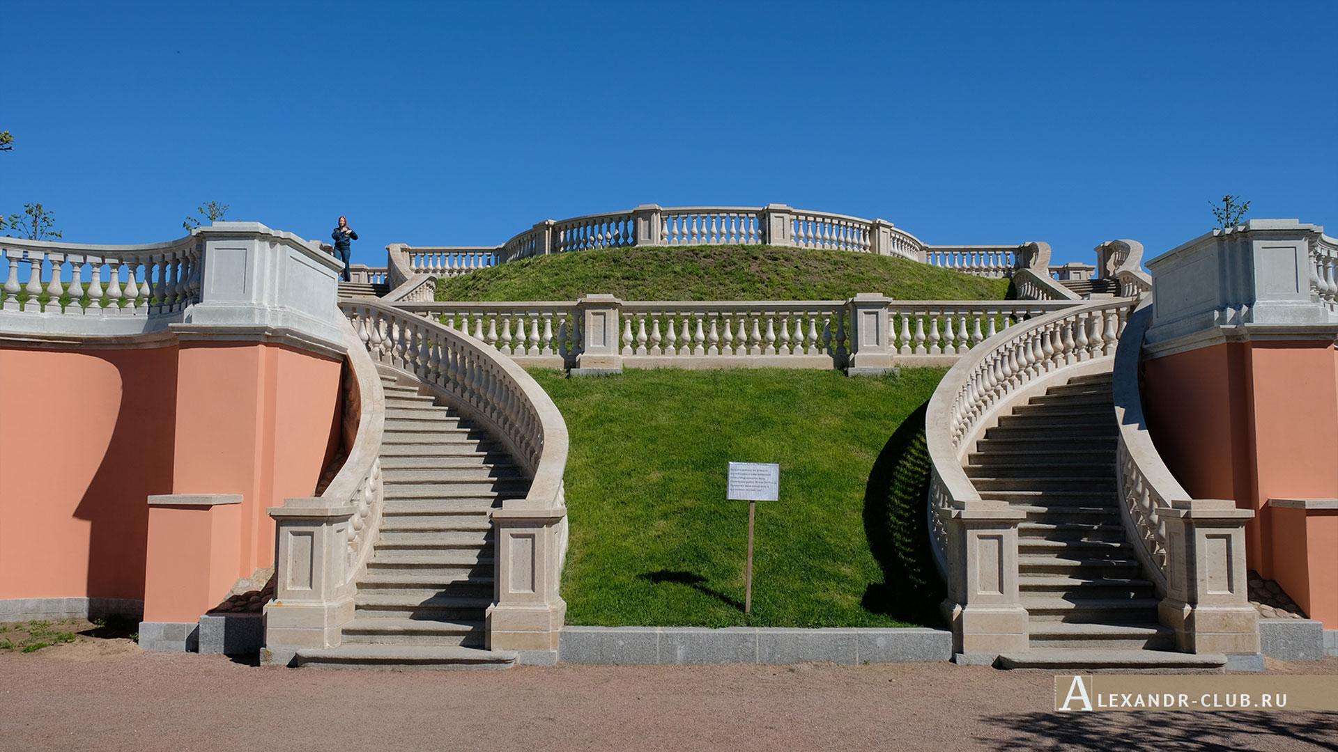 Петергоф, весна, Нижний парк, центральная лестница Марлинского вала
