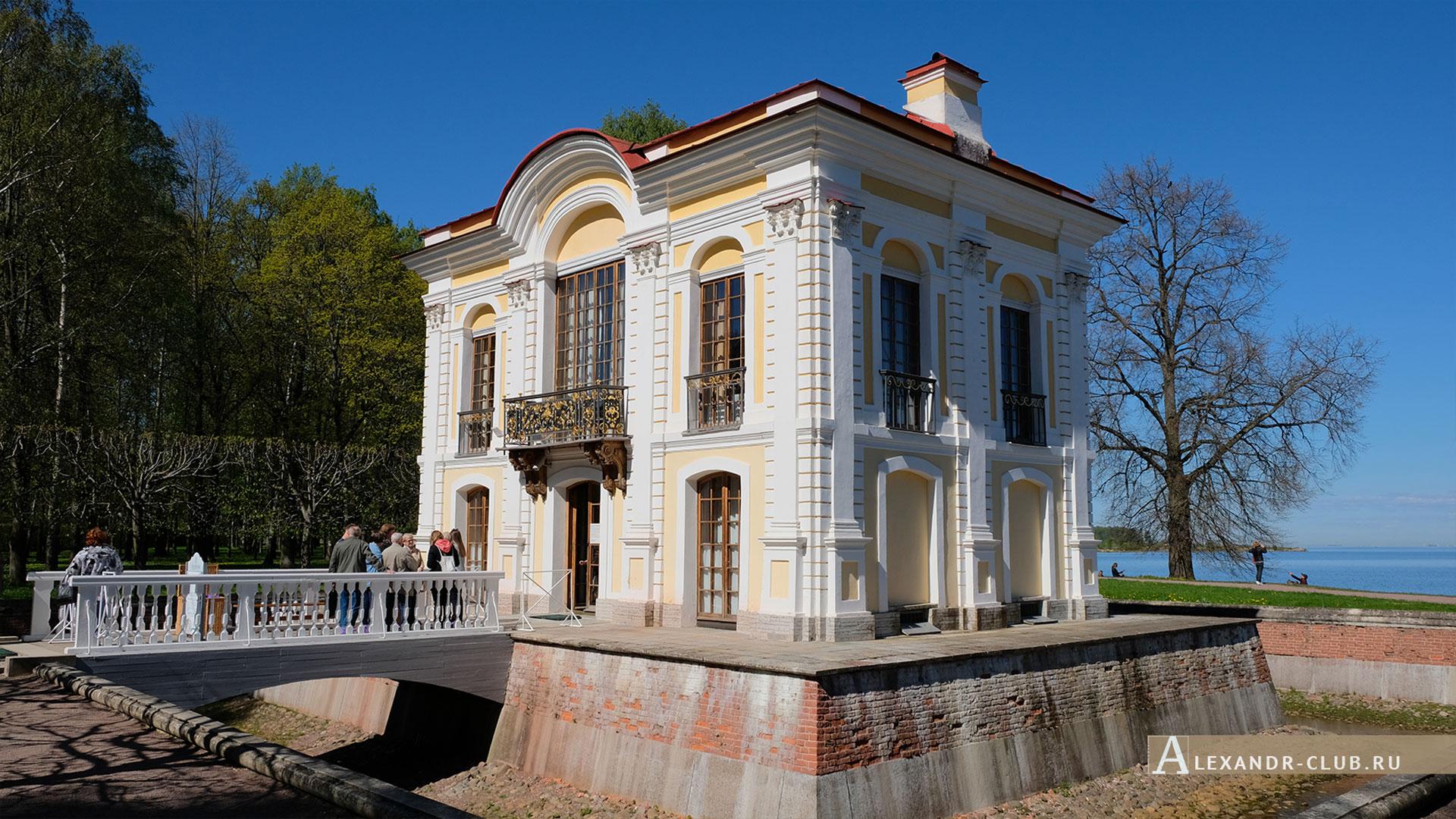 Петергоф, весна, Нижний парк, павильон «Эрмитаж»