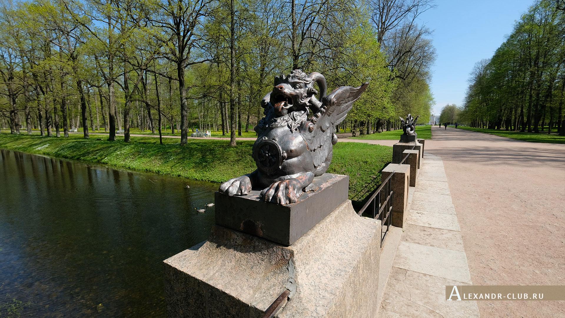 Царское Село, Александровский парк, весна, Драконов мост