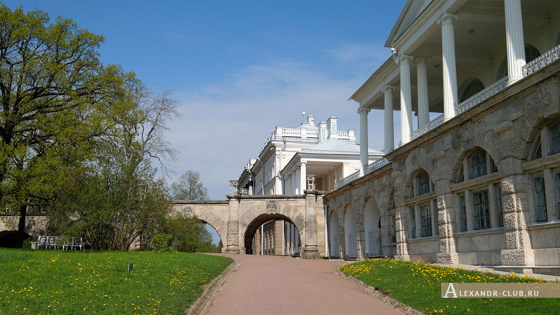Царское Село, весна, Екатерининский парк, Камеронова галерея
