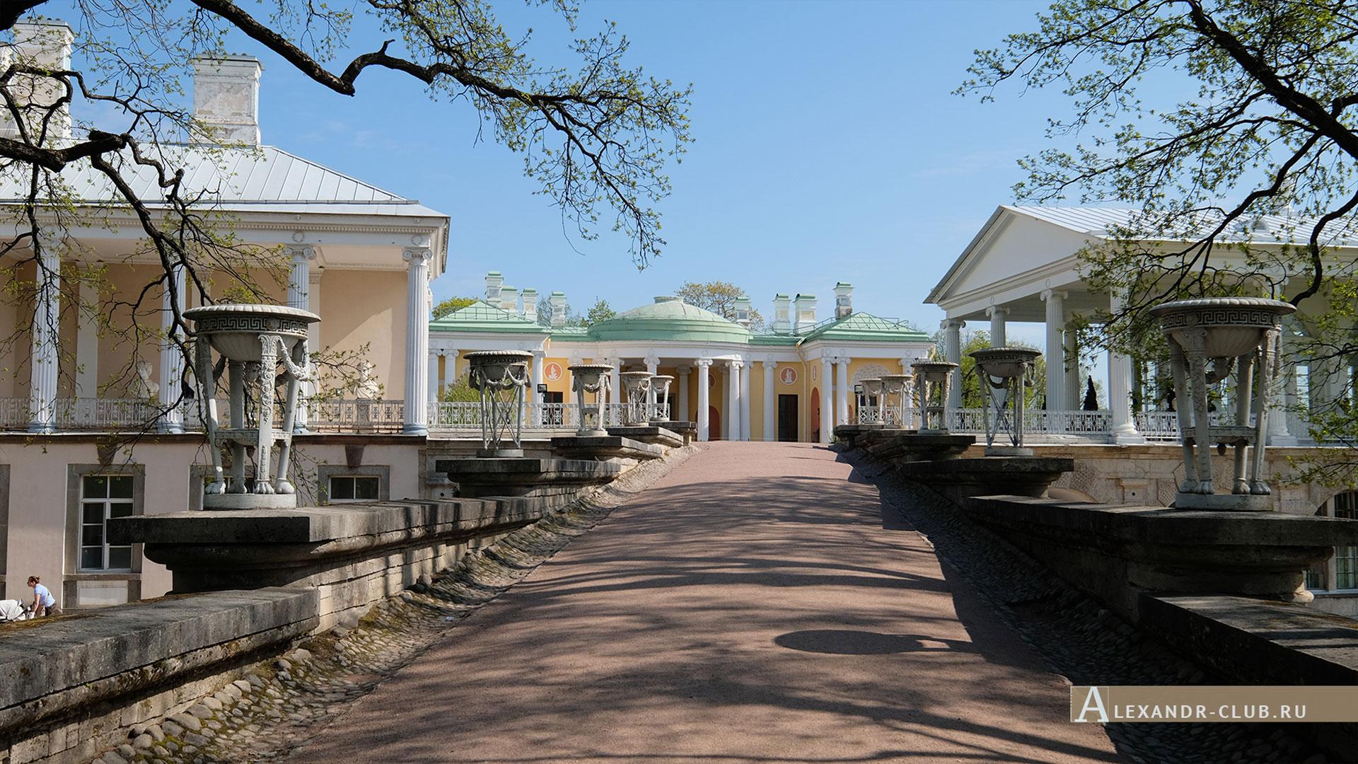 Царское Село, весна, Екатерининский парк, Пандус, Камеронова галерея