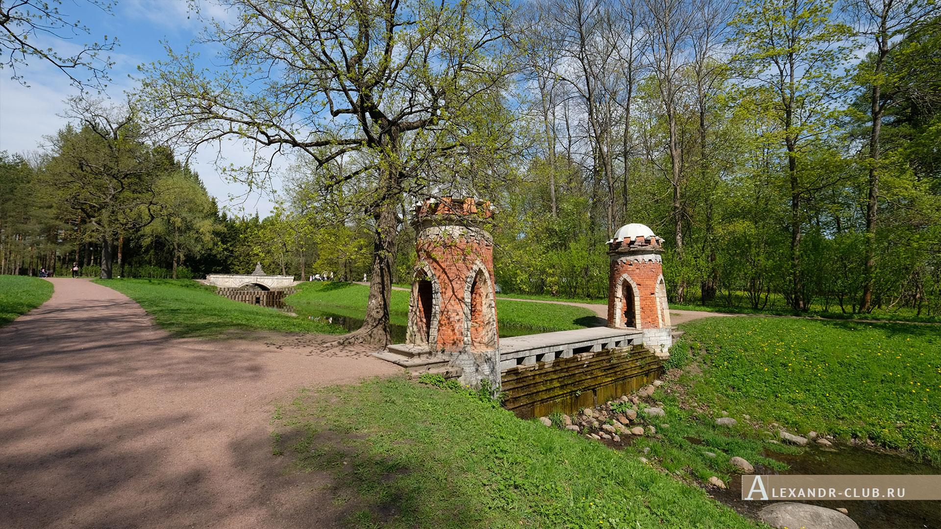 Царское Село, весна, Екатерининский парк, «Красный каскад»