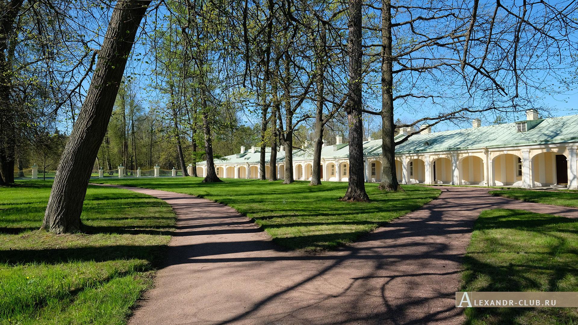 Ораниенбаум, весна, Большой Меншиковский дворец, служебный флигель